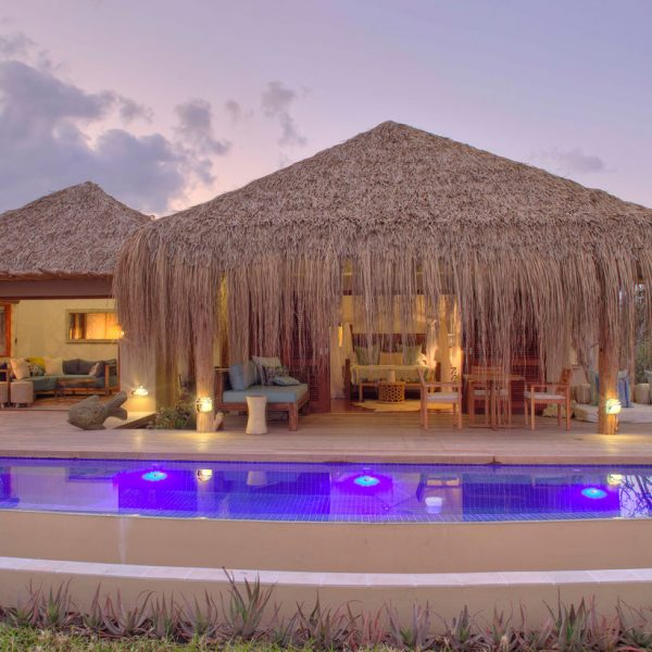 Exterior of Royal Beach Villa with private plunge pool, jacuzzi, and sala