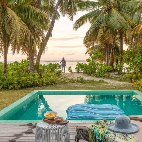 The outdoor private pool of the Beach Suite - Blue Safari Seychelles