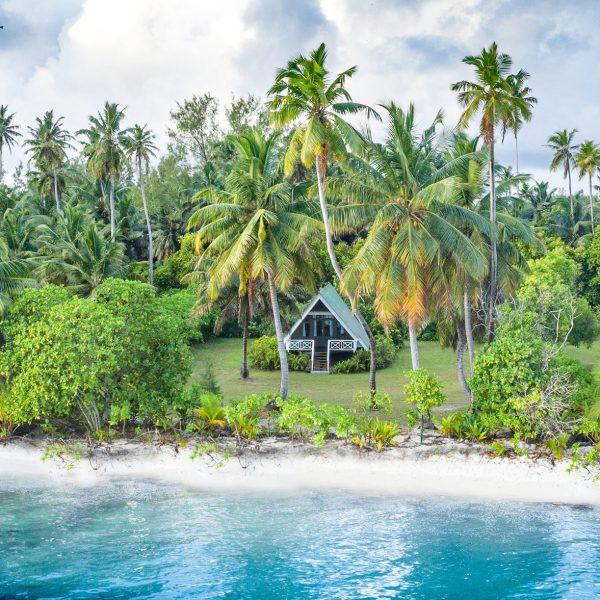 Private beach entrance to each Beach Bungalow - Blue Safari Seychelles