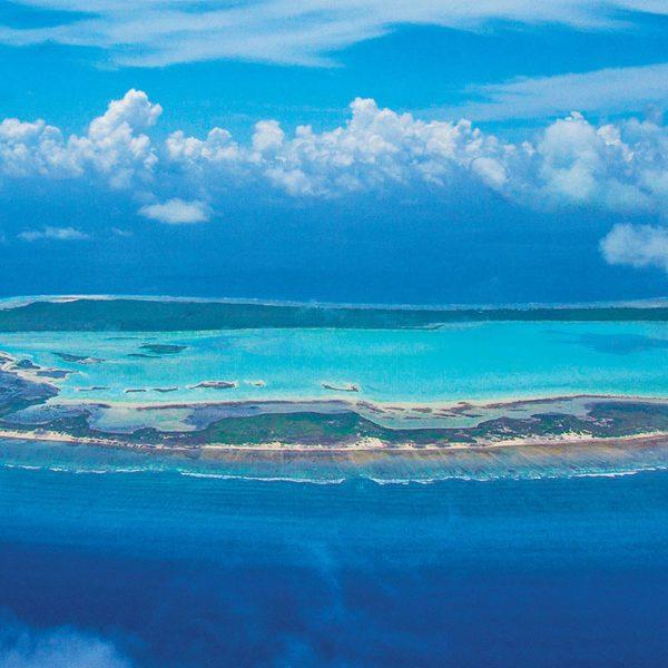 An aerial view of the Astove Atoll - Blue Safari Seychelles