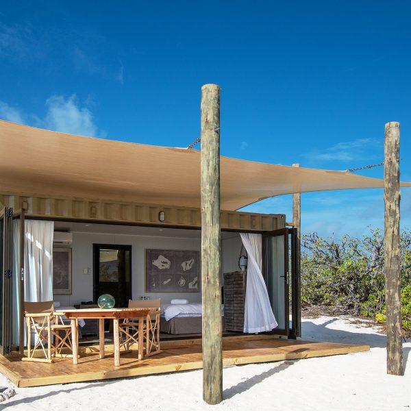 The Eco-pod accommodation on Cosmoledo Atoll - Blue Safari Seychelles