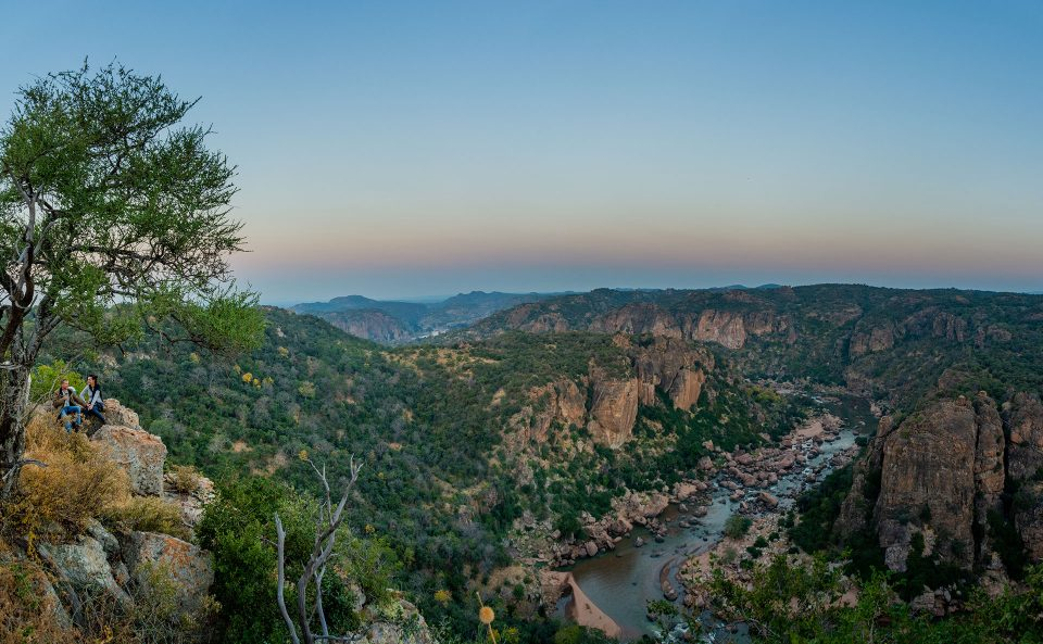 Guests look out over Lanner Gorge