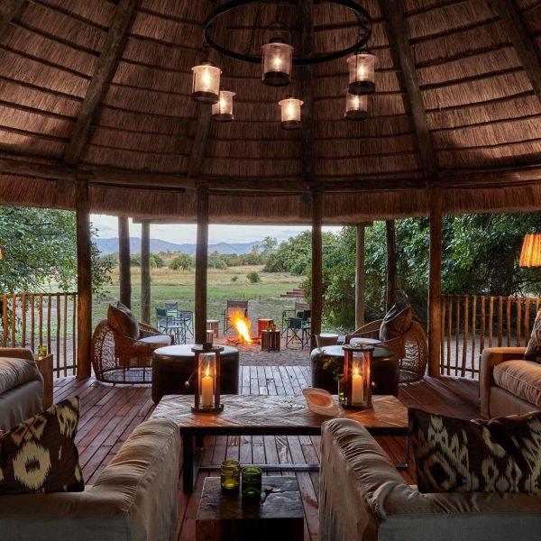 The main area at Kuyenda under thatch, and looking over the open plains